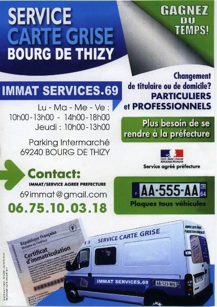 UN SERVICE CARTE GRISE Bourg de Thizy RVR Radio